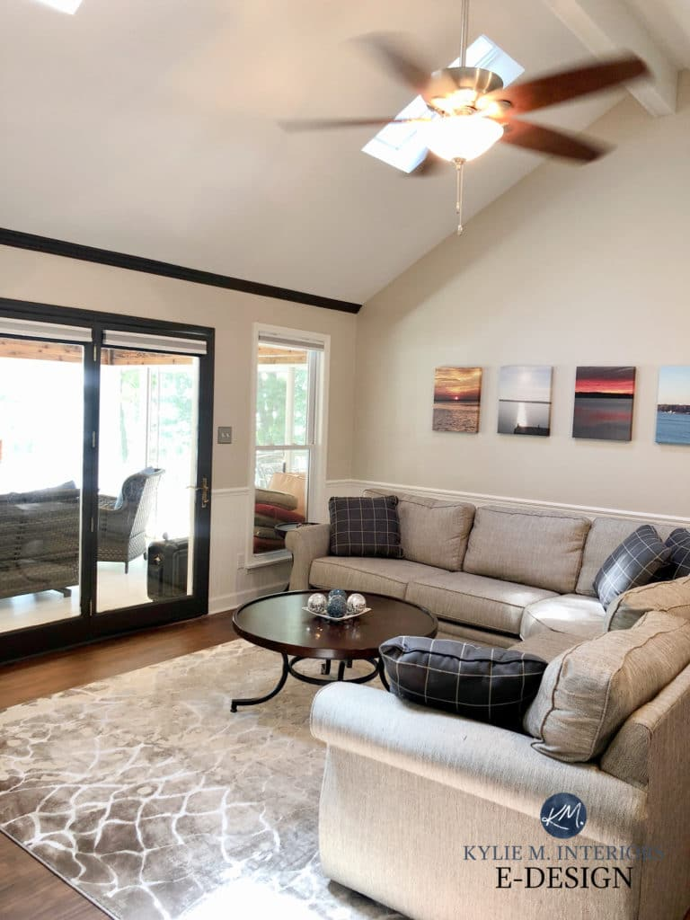Sherwin Williams Modern Gray, warm grey, taupe furniture. Kylie M Interiors Edesign, DIY blogger and consultant
