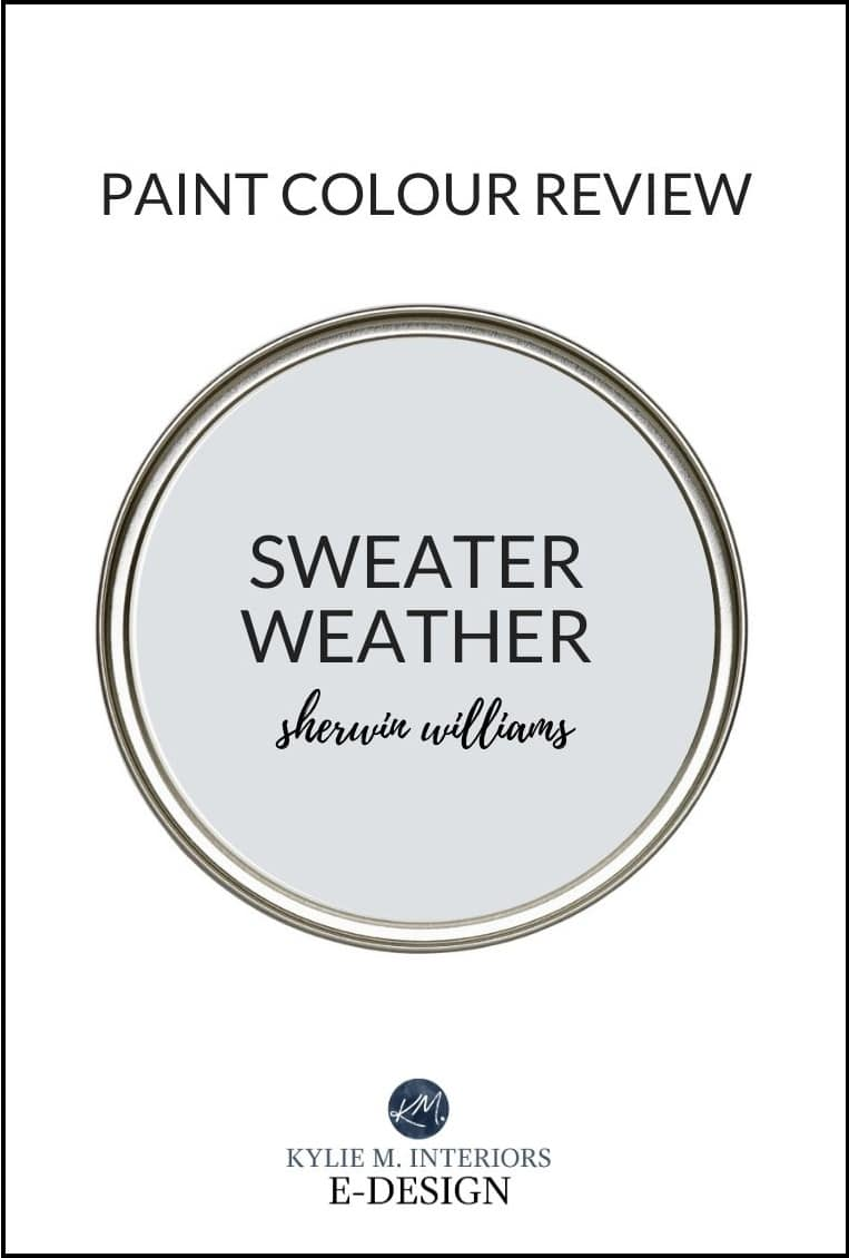 Sweater Weather, Sherwin Williams best gray paint colour, a review. Designer Edition. Kylie M Interiors Edesign, diy consultant (2)